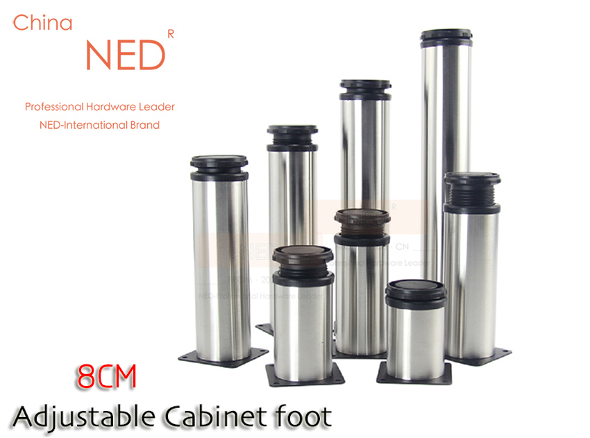 4PCS 8CM Height Brand NED Furniture Legs Adjustable Stainless Steel Table  Cabinet Metal Foot Sofa TV Bed Feet With Screws In Furniture Legs From  Furniture ...