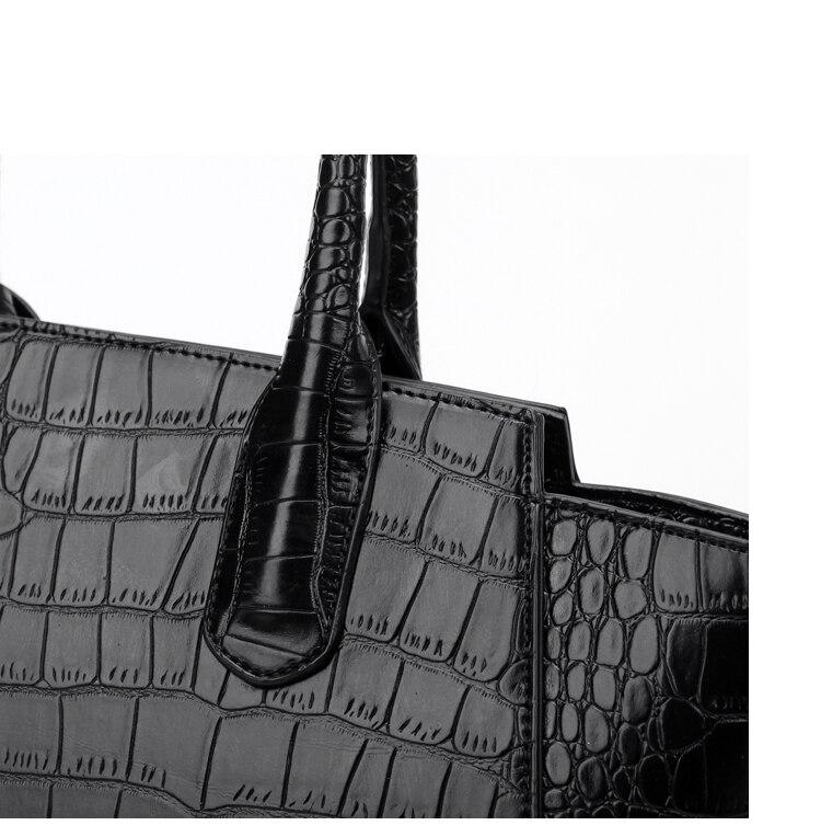 Nova patente brilhante couro de crocodilo padrão