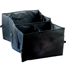 15L Trunk Organiser Car Organizer Black Fabric Back Cab Folding Storage Box Container