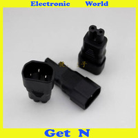 2pcs 3 Pin To 8 Type Power Plug Power Adapter Connector REC Jack Socket