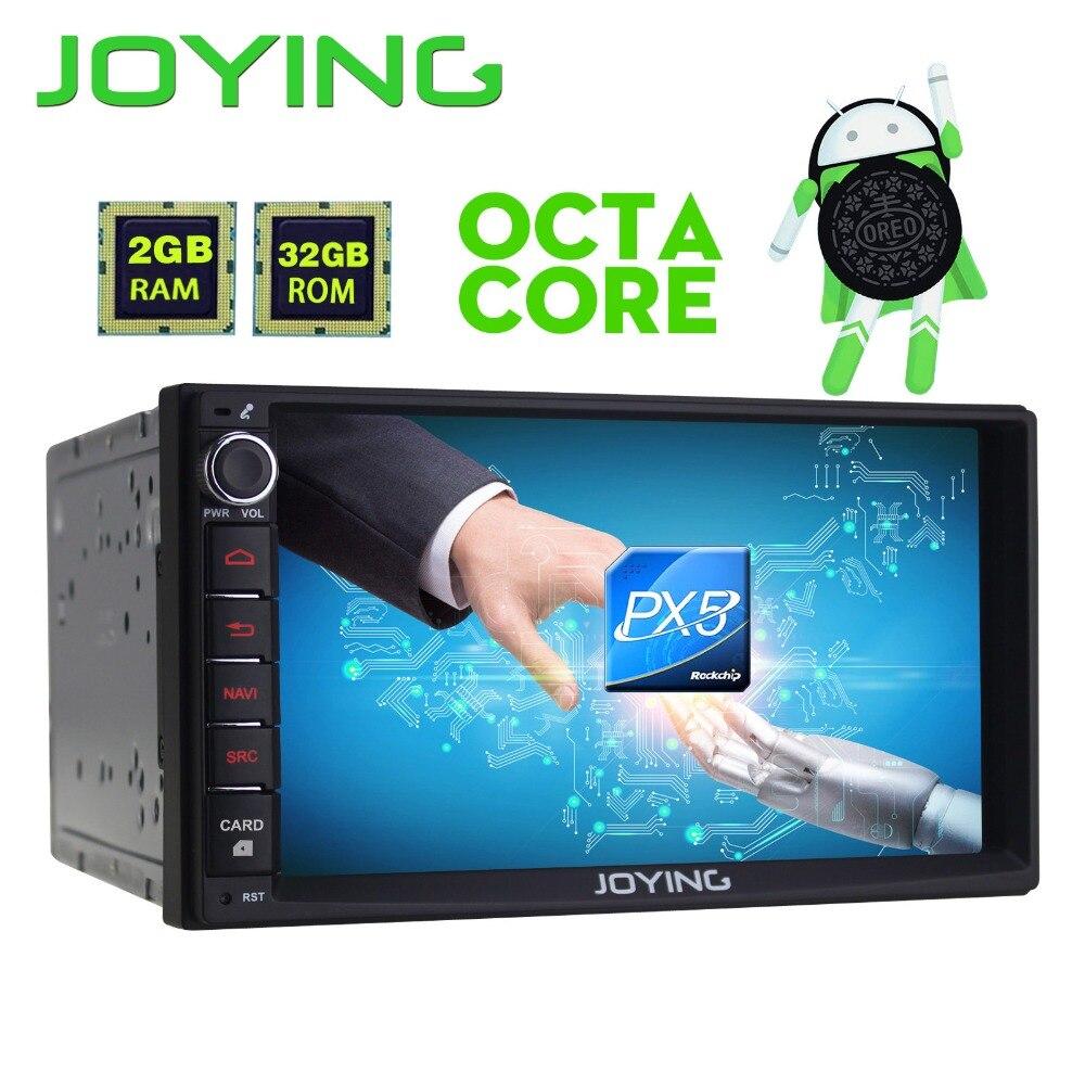 Nouveau Produit Double 2 Din 7 PX5 Octa Core 2 gb + 32 gb Tête Unité Multimédia Android 8.0 universel De Voiture Radio Stéréo Magnétophone