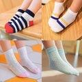 5 pairs/lot  Children Baby Girls Socks Star Striped Fashion Mesh Kids Boy Super Cute Ankle Socks