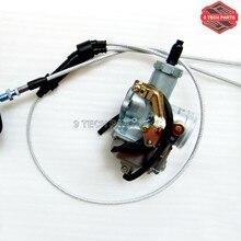 Cable de la Bomba de Aceleración Del Carburador Choke Carb PZ30 30mm + Dual Kit de cable del acelerador para ATV Dirt Bike Pit Quad 200cc 250cc