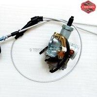 PZ30 30mm Carburetor Accelerating Pump Cable Choke Carb + Dual throttle cable Kit for ATV Dirt Bike Pit Quad 200cc 250cc