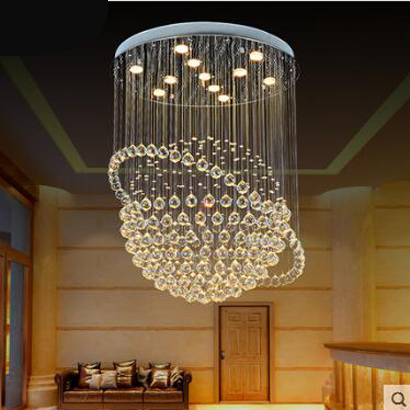 Restaurant Crystal Chandelier Round Hall Shop Clothing Store Dining Room Chandelier Bedroom Lamp Living Room Chandelier Modern vintage clothing store personalized art chandelier chandelier edison the heavenly maids scatter blossoms tiny cages