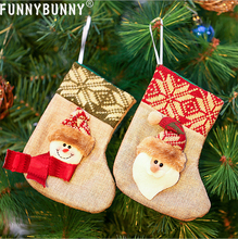 FUNNYBUNNY Christmas Stockings Sack Sock Gift Bag Filler Santa Xmas Hanging Decoration