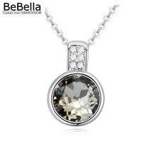 20446dda87aac BeBella forma redonda pingente Colares de Cristal Austríaco Feito com  Cristais de Swarovski mulheres presente em