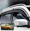 ACCESSORIES SET FIT FOR 2014 2015 2016 NISSAN QASHQAI SIDE WINDOW RAIN DEFLECTORS GUARD VISOR WEATHERSHIELDS DOOR SHADE WEATHER