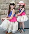 Новый 2017 мода лето дети дети новорожденных девочек семья clothing наборы мать и дочь платье розничная