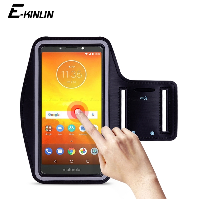 competitive price a16bf e2754 US $3.29 20% OFF|Waterproof Running Sport Gym Arm Band For Motorola Moto E5  E4 E3 Power M C Plus X Play Force Style Phone holder Case Cover-in Phone ...