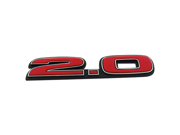Auto car Black Red 2.0 for Civic FD2 Type R Emblem Badge Sticker auto chrome camaro letters for 1968 1969 camaro emblem badge sticker