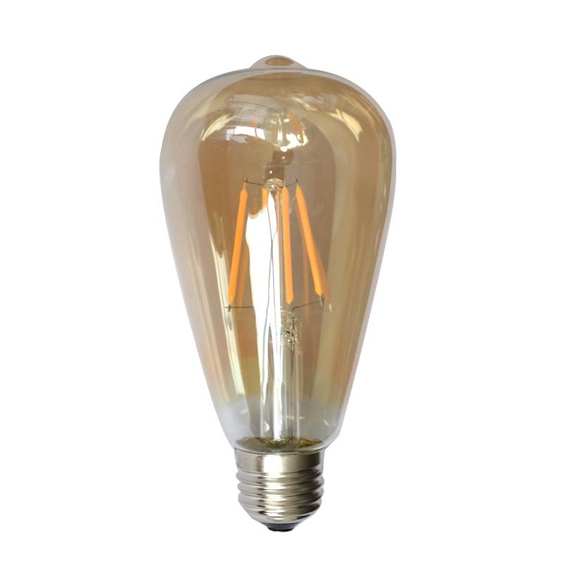 20pcs/lot Vintage Bulb E27 4W 6W LED Bulbs Lamps Glass Globe Lamp Edison Filament Pendant Light Warm White 220V-240V High Power