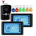 Nacht Vision Intercom Türklingel Video System Verdrahtet visuelle Video Intercom Freisprecheinrichtung System Home Audio mit RIFD Karte kamera