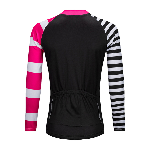 Stylish Long-Sleeved Quick Drying Women's Cycling Jersey