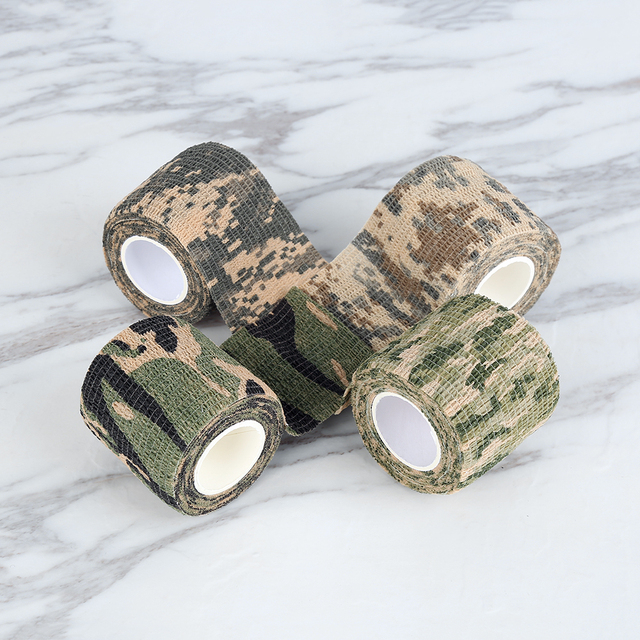 5cmx4.5m Army Camo Outdoor Hunting Shooting Tool Camouflage Stealth Tape Waterproof Wrap Durable Hunting Accessories