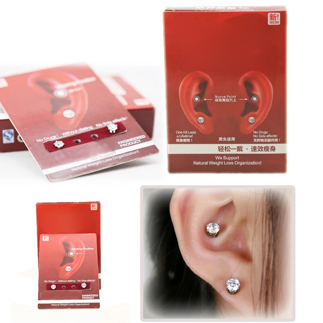OOTDTY New Earring Wearing Slimming Natural Weight Loss Organization Without Dieting 3T1805