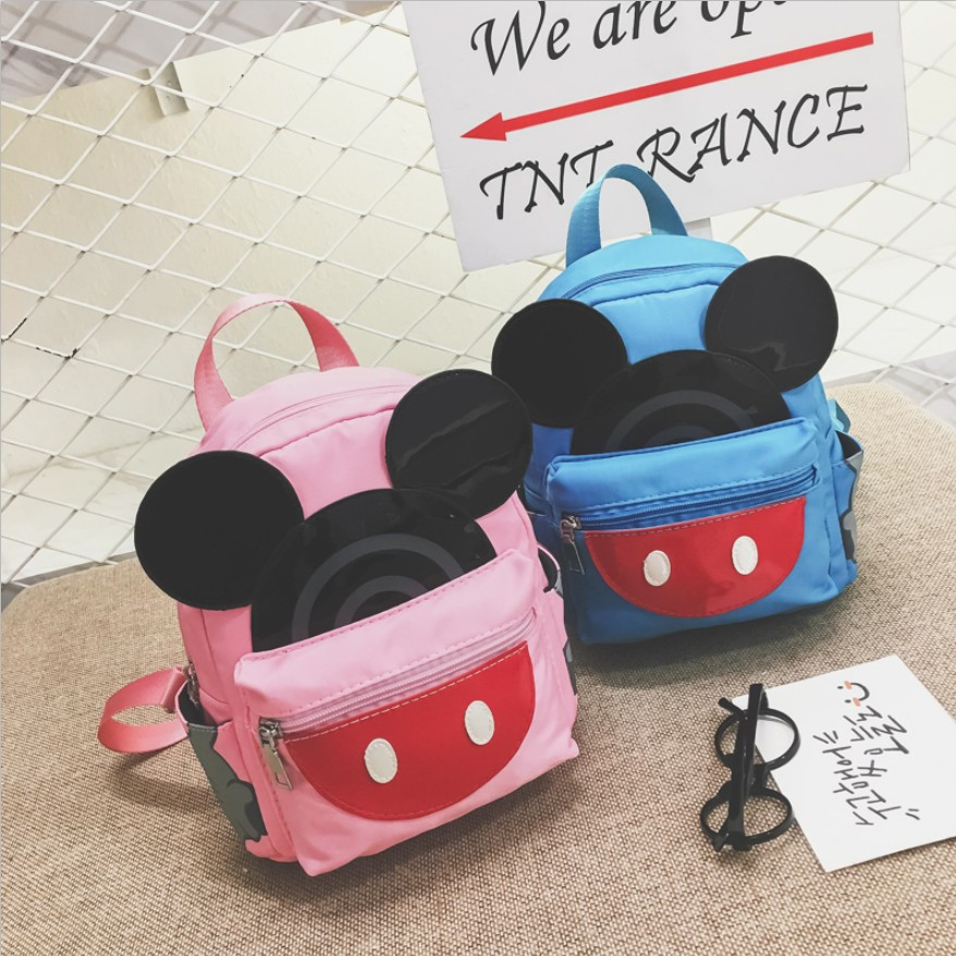 dropshopping Cute Backpack Minnie Female School Bag Nylon Kids Bag pack Mickey Ears Kawaii Mini Backpack Rucksacks For Girls