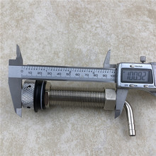Draft Beer 4 Inch 100mm G5/8 Long Shank With Nut Tail Kit For Homebrew Keg Faucet Tap Kegerator