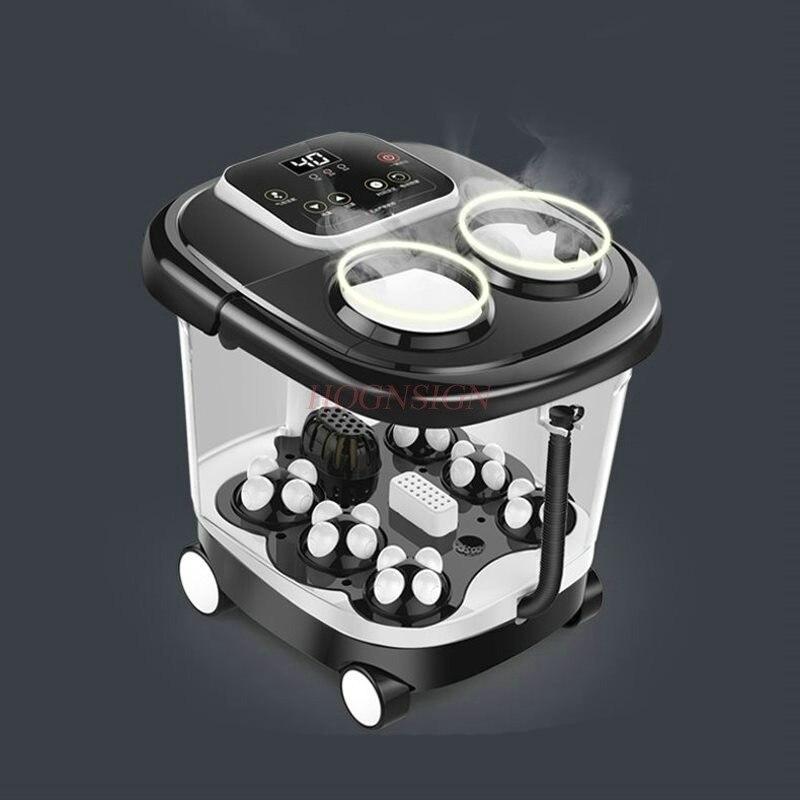 Ванна для ног баррель Автоматическая массаж умывальник Электрический Отопление ванна для ног Педикюр машина домой термостат