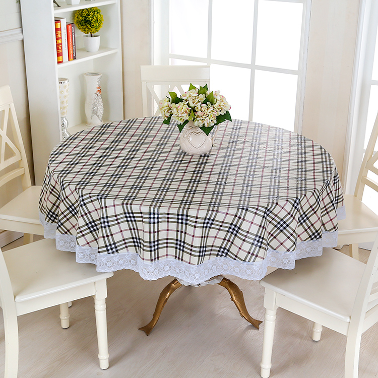 Waterproof Wipe Clean Round PVC Vinyl Tablecloth Dining Kitchen Table Cover  Protector OILCLOTH VINYL FABRIC CR 975 In Tablecloths From Home U0026 Garden On  ...