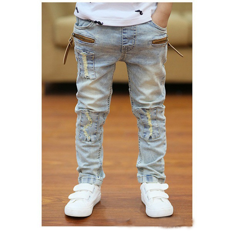 Ninos Nino Cremallera Stretch Pantalones De Vaquero Nino Delgado Palido Denim Pantalones De Vestir Pantalones Largos Control Ar Com Ar