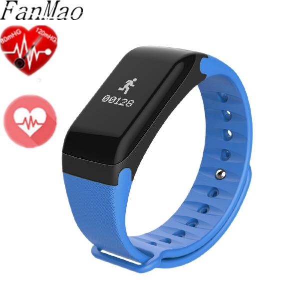 FanMao Smart Band blood Pressure Watches F1 Smart Bracelet Watch Heart Rate Moni