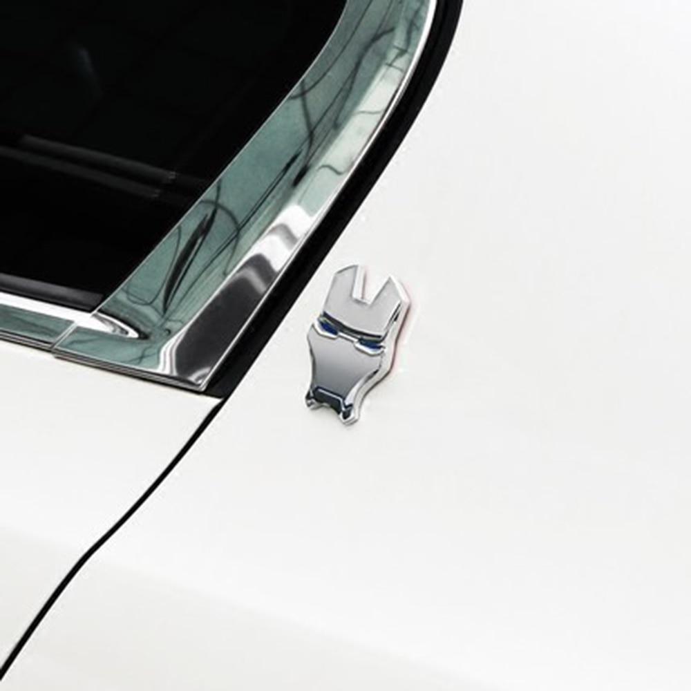 3d metal iron man car emblem stickers logo car fender. Black Bedroom Furniture Sets. Home Design Ideas