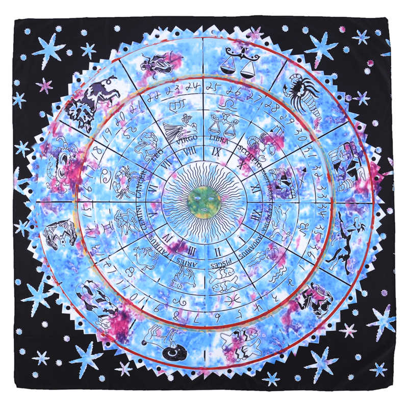 Tarot Card Divination Tablecloth For Classic Witt Flower Shadow Tarot Divination Prop Astrological Table Rug cloth