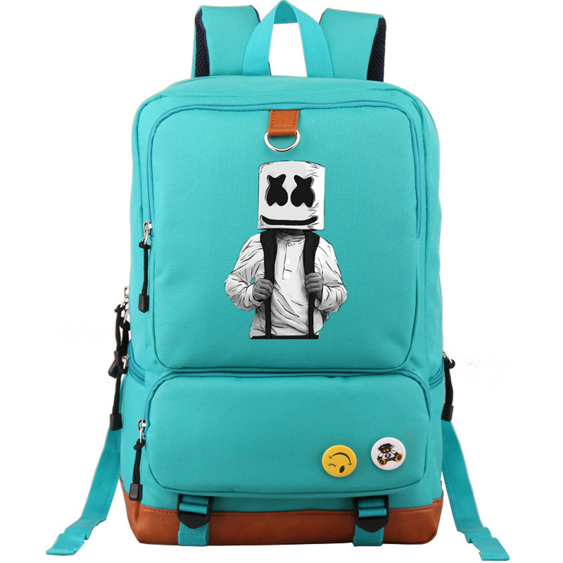 2019 Lycoriscoris Dj Marshmello Dotcom Druck Rucksack Leinwand Schule Taschen Für Teenager Mädchen Laptop Rucksack Mochila Feminina Modern Und Elegant In Mode