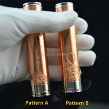 Bilstar Rotes Kupfer Stingray mechinal MOD elektronische zigarette 18650/18350 batterie körper für RBA RDA wiederaufbau tropft zerstäuber