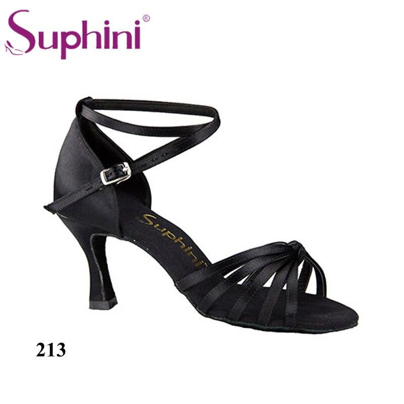 Free Shipping Suphini Flexible Tan Latin Dance Shoes Ballrom Dance Shoes Woman Red Dance Shoes