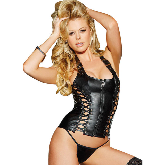 ea958ad11c9 new women plus size sexy lingerie hot black leather erotic lingerie teddy  sexy underwear sexy costumes lenceria sexy W850501