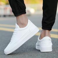 Men's Vulcanized Shoes 2018 New Summer Breathable Men Casual Shoes Non slip Platform Shoes Lace up Sneakers Shoes