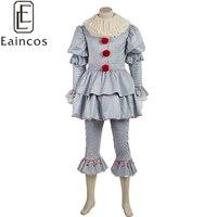 Новый фильм Стивен Кинг это Pennywise Косплэй Хэллоуин Детский костюм для вечеринок клоун равномерное наряд индивидуальный заказ