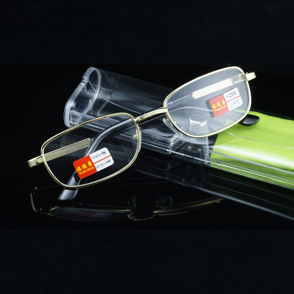 = CLARA VIDA = Luxury Anti radiation fatigue Resin Or Natural Crystal Lens Reading Glasses With Case +1 +1.5 +2 +2.5 +3 +3.5 +4