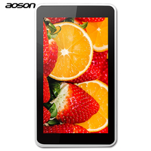2017 Marca Aoson M751S-BS 7 pulgadas Android Tablet PC 1024*600 8 GB Quad Core WIFI Bluetooth Niños Tablet para Niños Bebé la educación