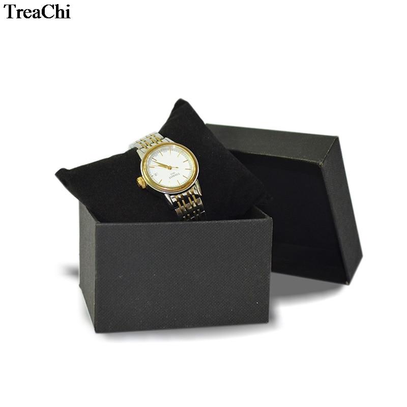 Big Sale 40Pcs Jewelry Display Box Black Watch Box With Velvet Pillow Holder Bangle Bracelet Chain