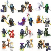JUNOGO 24pcs Lot Ninja Figure Blocks Kai Jay Cole Zane Nya Lloyd COMPATIBLE LEGOINGlYS NINJAGOINGlYS TOYS