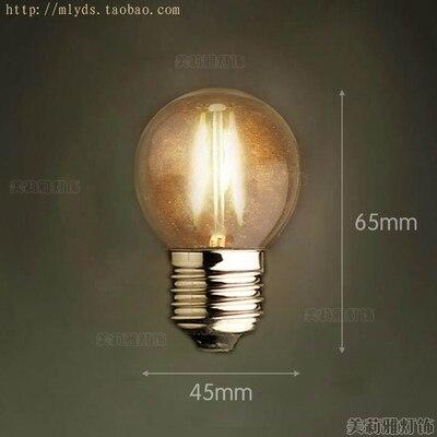 4 Вт E27 220 В светодиодный светильник для декора, лампада Эдисона, винтажный декоративный светильник с ампулами T10 G80 G95 ST64 T225 T30 - Цвет: Темно-серый