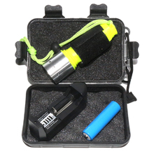 2000 Lumens CREE XML T6 Waterproof LED Flashlight Stainless Steel+Plastic Underwater Scuba Diving Torch+Battery+Charger+Box