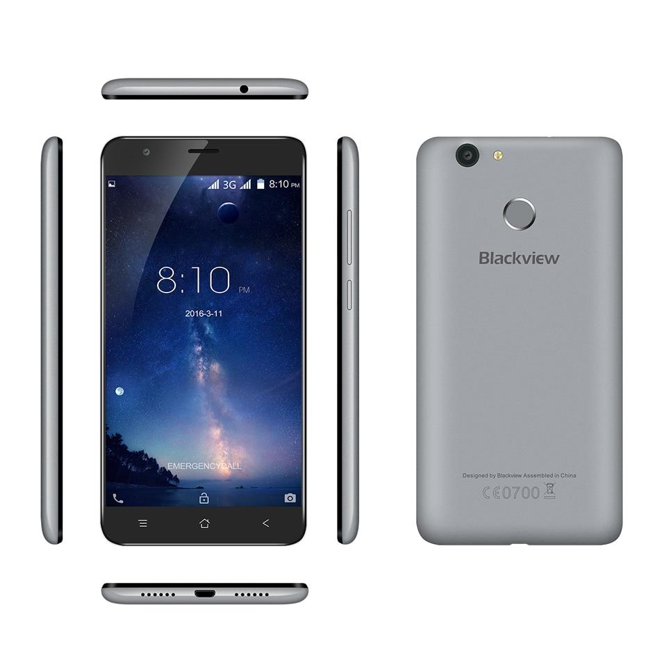 "Case+Earphone)Gift!Blackview E7 Blackview E7S Mobile Phone 3G WCDMA 5.5"" Android 6.0 MT6580A Quad Core 2G+16G Fingerprint ID"