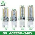 Menor preço Lâmpada LED SMD 2835 3014 LED G4 G9 CONDUZIU a lâmpada 3 W 7 W 9 W 10 W 12 W diodo emissor de Luz DC12V AC220V 360 Graus Substituir Lâmpada Halógena