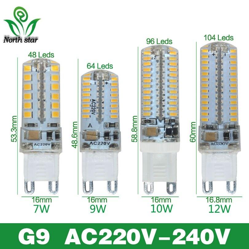 Низкие цены на светодиодные лампы SMD 2835 3014 LED G4 G9 светодиодные лампы 3 Вт 7 Вт 9 Вт 10 Вт 12 Вт свет DC12V AC220V 360 градусов заменить галогенные лампы