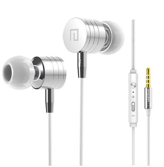 High Quality Original Metal Earphone In-ear Music Headset Stereo Headphone With Microphone For Phone Mp3 Mp4 100% original high quality stereo bass headset in ear earphone handsfree headband 3 5mm earbuds for phone mp3 player
