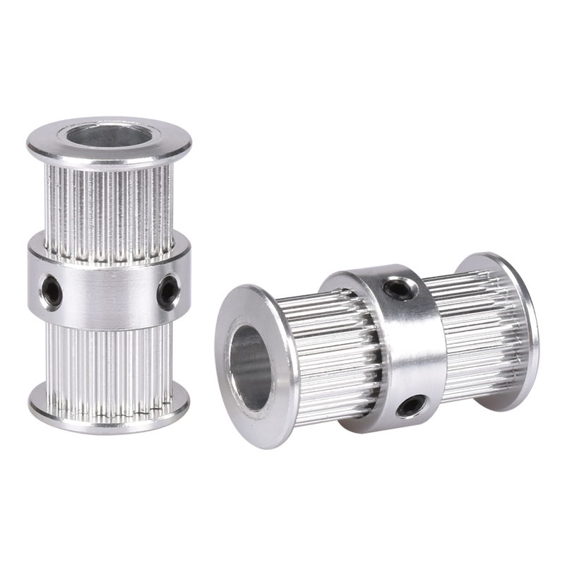 BIQUGT2 pulley type double head GT2 20 teeth 6mm width bore 5 8mm timing pulley for