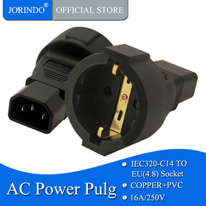 JORINDO IEC320 C14 TO EU, Adaptador De Tomada de Poder IEC 320 C14 a UE Europeu,DA UE AC plug power converter UPS PDU Cabo
