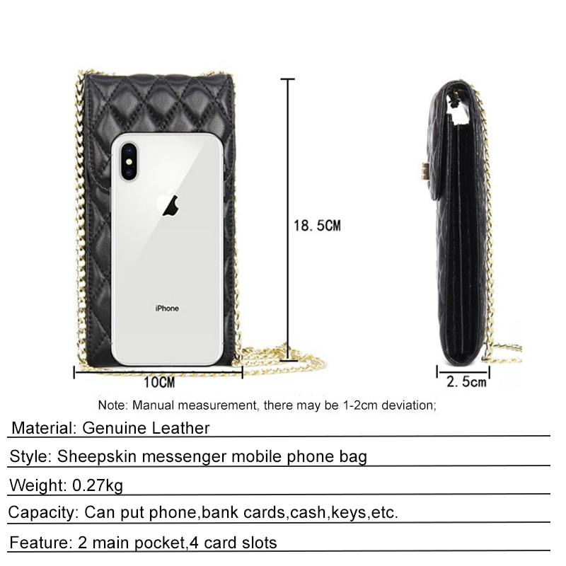 telefone mini bolsa de ombro qualidade pele
