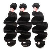 Peruvian Virgin Hair body wave bundles 100% Human Hair Bundles 3 pcs Extensions Natural Color Hair Extension CARA Hair Weaves