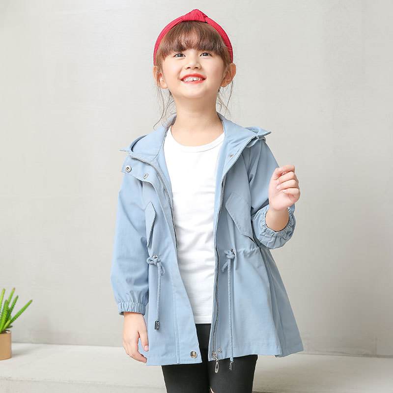 2018 Winter Fashion Children Clothing Baby Girl clothes Striped Hooded Coat Zipper Jacket Thin waterproof Jacket Windbreaker