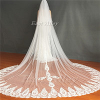 High Quality 3M Cathedral Length Wedding Veil Lace Bridal Veil Long Veil Wedding Accessory